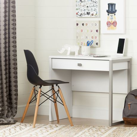bureau de travail 1 tiroir interface blanc de meubles south shore walmart canada. Black Bedroom Furniture Sets. Home Design Ideas