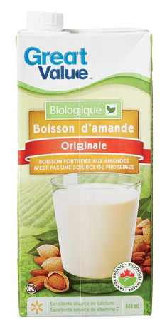 Great Value Organic Original Almond Drink - image 2 of 3