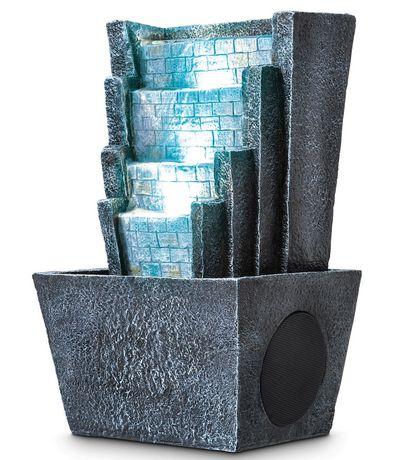 haut parleur zen bluetooth en fontaine deau de sharper image - Fontaine A Eau Zen