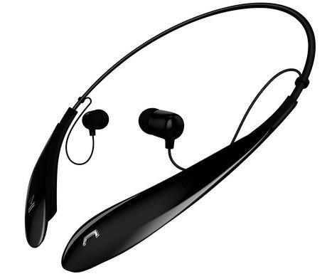 sharper image sbt530 bluetooth wireless neckband earbuds. Black Bedroom Furniture Sets. Home Design Ideas