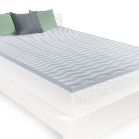 Homedics 2cool Wave Memory Foam Mattress Topper Walmart Canada