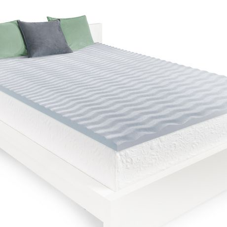 sur matelas en mousse visco lastique homedics pour surface ondul e de 5 cm 2 po walmart canada. Black Bedroom Furniture Sets. Home Design Ideas