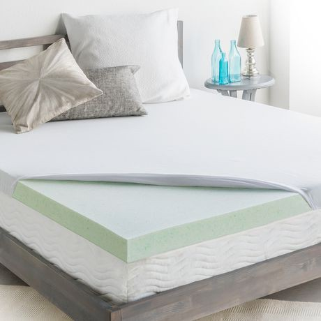 homedics 3 cool support gel memory foam mattress topper walmart canada. Black Bedroom Furniture Sets. Home Design Ideas
