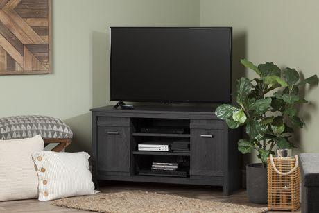 Meuble TV en coin pour TV jusqu à 42   Exhibit, Chêne gris de Meubles South  Shore fcd89a4de63c