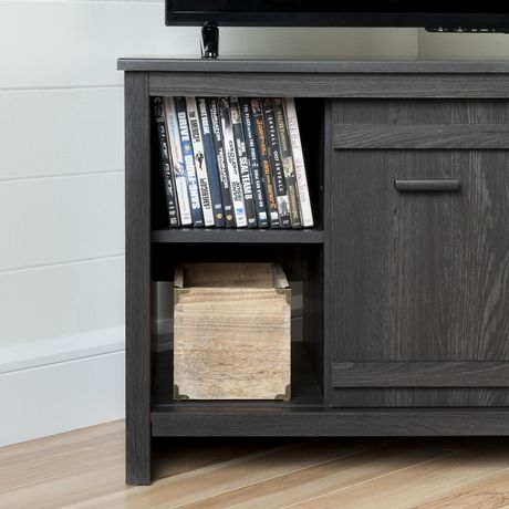 South Shore Exhibit Corner TV Stand, for Tvs up to 42'', Gray Oak - image 6 of 9