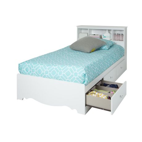 white twin storage bed. Exellent Storage South Shore Crystal Twin Storage Bed 39 In With 3 Drawers White Inside R