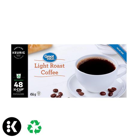 Great Value Keurig Light Roast Coffee - image 1 of 7