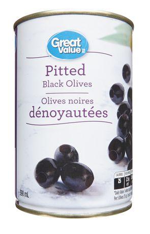 Olives noires dénoyautées Great Value - image 1 de 2