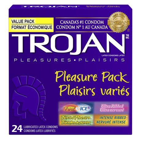trojan pleasure pack premium lubricated condoms value pack walmart
