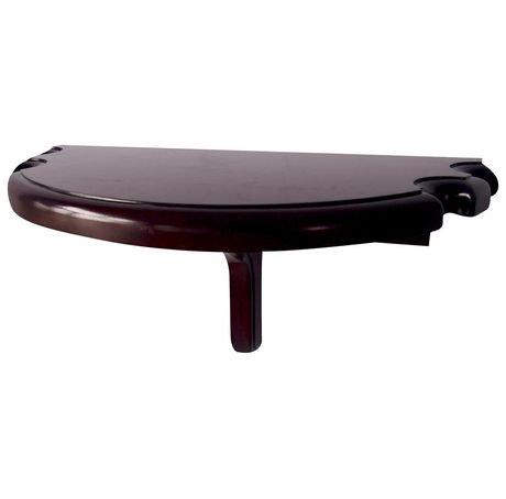 tablette murale en demie lune haut de gamme de hathaway finition acajou walmart canada. Black Bedroom Furniture Sets. Home Design Ideas