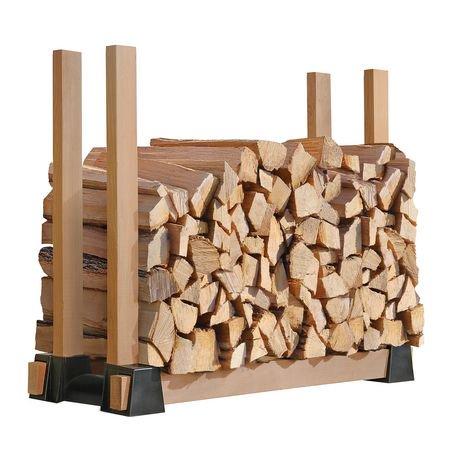 Lumber rack firewood bracket kit walmart canada for Fabriquer un porte buche