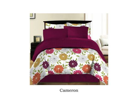 Johnson Home Cameron Comforter Quilt 6 Pc Bed In A Bag