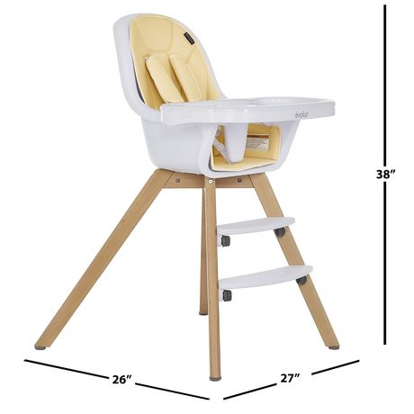 Evolur Zoodle 3-in-1 High Chair I Booster Feeding Chair I Modern Design I Toddler Chair I Removable Cushion I Adjustable Tray I Baby, Infant, and Toddler - image 8 of 9