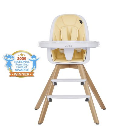 Evolur Zoodle 3-in-1 High Chair I Booster Feeding Chair I Modern Design I Toddler Chair I Removable Cushion I Adjustable Tray I Baby, Infant, and Toddler - image 1 of 9