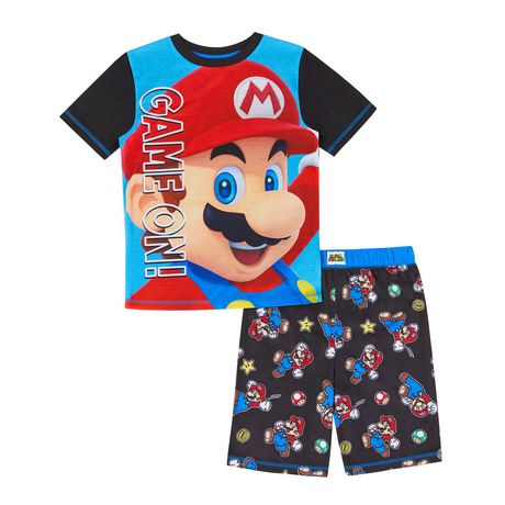 """Super Mario /""""Game On!/"""" Childs t-shirt SIze 4 7 S 6-7 L 10-12 XL 14-16 New Boys"""