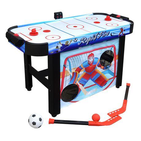 table d air hockey multi jeux 3 en 1 rapid fire de. Black Bedroom Furniture Sets. Home Design Ideas