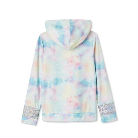 George Girls' Brushed Fleece Sherpa-Lined Hoodie - image 2 of 2