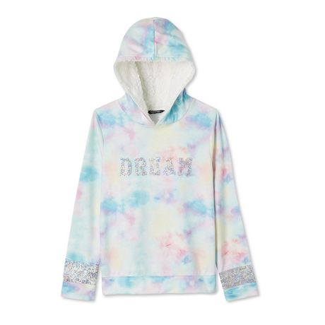 George Girls' Brushed Fleece Sherpa-Lined Hoodie - image 1 of 2