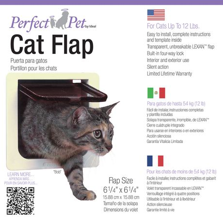 Perfect Pet 4 Way Cat Lock Flap Door Walmart Canada