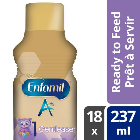 Enfamil A+ Gentlease® Baby Formula, Ready to Feed Bottles - image 1 of 5