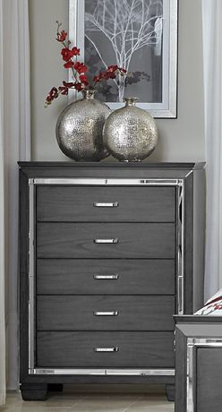 Topline Home Furnishings Grey 6 pc Queen Bedroom SetIncludes: - image 3 of 4