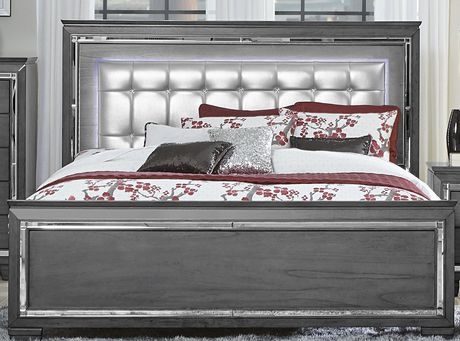 Topline Home Furnishings Grey 6 pc Queen Bedroom SetIncludes: - image 4 of 4
