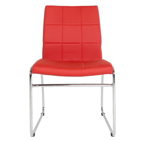 Leroy Faux Leather Traditional Height Side Chair Walmart