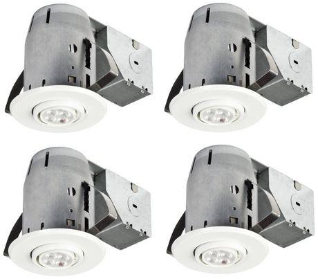 Globe Electric 3  IC Rated LED Swivel Spotlight Recessed Lighting Kit | Walmart Canada  sc 1 st  Walmart Canada & Globe Electric 3