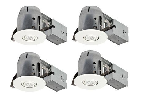 globe electric 4 ic rated led swivel spotlight recessed lighting