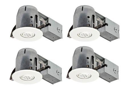 Globe Electric 4  IC Rated LED Swivel Spotlight Recessed Lighting Kit | Walmart Canada  sc 1 st  Walmart Canada & Globe Electric 4