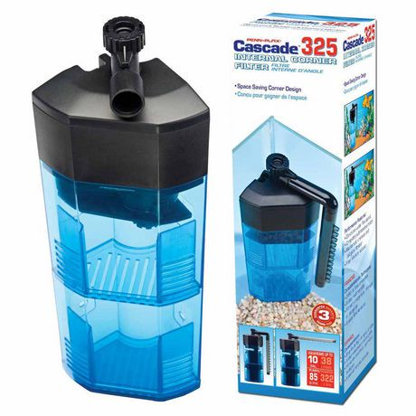 Penn plax cascade 325 bio sponge corner internal filter for Fish filter walmart