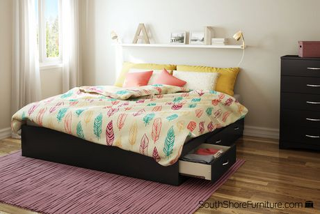 South Shore SoHo King Platform Bed With 6 Drawers 78