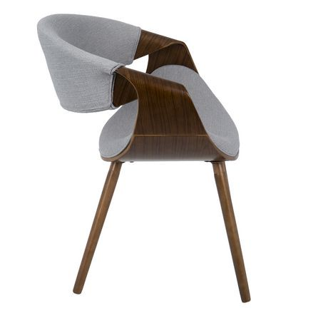 Curvo Mid Century Modern Dining Accent Chair By Lumisource