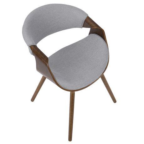 Curvo Mid Century Modern Dining Accent Chair By Lumisource Walmart Canada