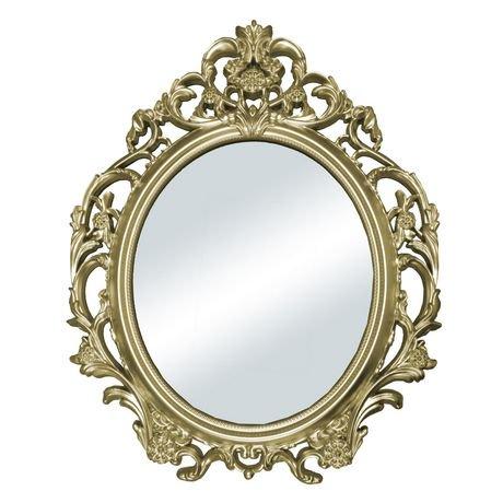 Hometrends baroque oval mirror walmart canada for Baroque mirror canada