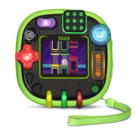 Square green and black English-learning game with digital display from LeapFrog