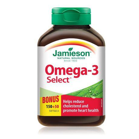 Jamieson Laboratories Jamieson Omega-3 Select Softgels, 1,000 mg - image 1 of 3