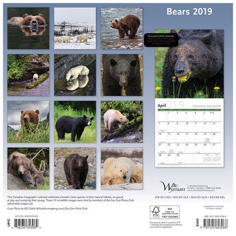 2019 Bears Calendar - image 2 of 3