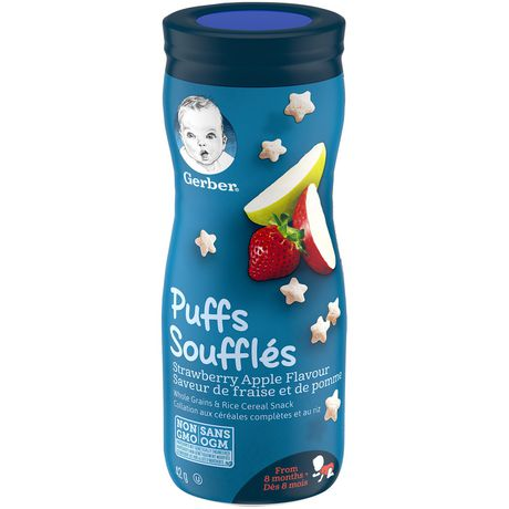 GERBER PUFFS, Strawberry Apple, Baby Snacks - image 1 of 6