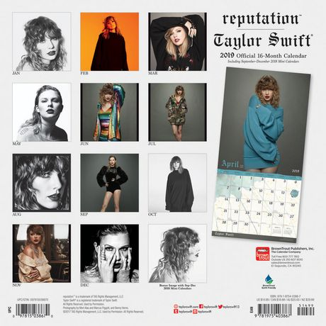 2019 Taylor Swift Calendar - image 2 of 3
