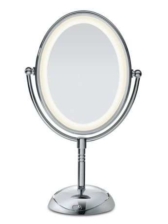 Conair reflections led lighted collection mirror walmart for Miroir walmart