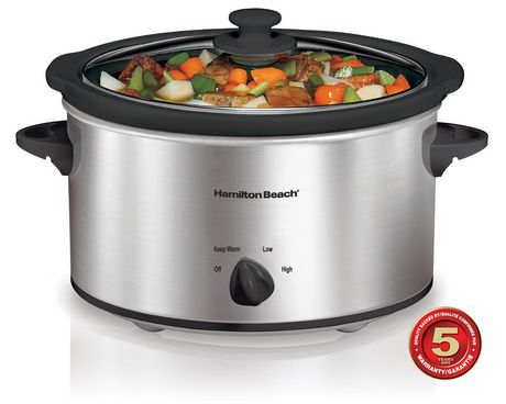Hamilton Beach 4 Quart Oval Slow Cooker 33140VCR - image 1 of 3