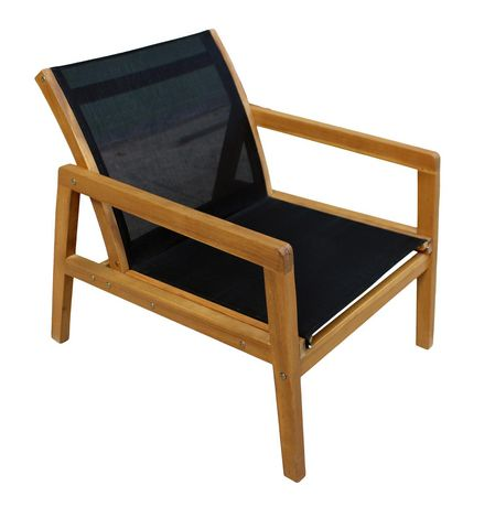 Patioflare Salma Acacia Wood Chair with Ottoman - image 4 of 6