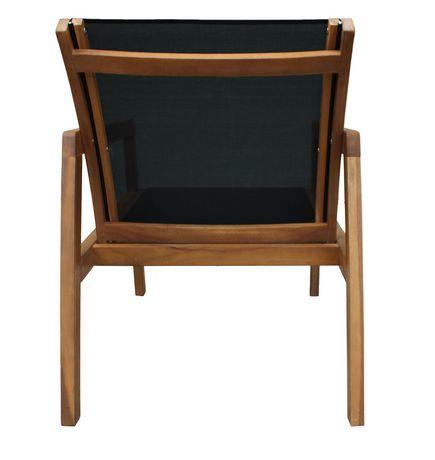 Patioflare Salma Acacia Wood Chair with Ottoman - image 3 of 6