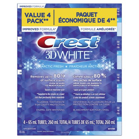Crest 3D White, Whitening Toothpaste Arctic Fresh - image 1 of 8