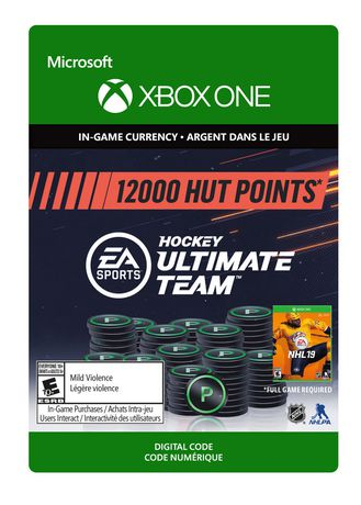 Xbox One NHL 19 Ultimate Team NHL Points 12000 [Download] - image 1 of 1