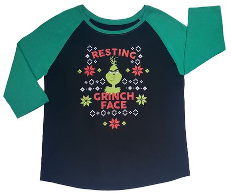 489b1376 Dr. Seuss The Grinch Women's Raglan T-Shirt | Walmart Canada