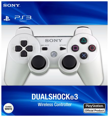 PS3 DualShock®3 Controller (Classic White) - image 1 of 1