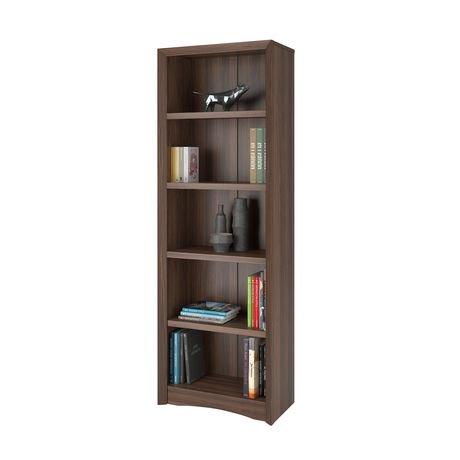 Biblioth que corliving quadra 71 po avec faux fini couleur for Faux fini meuble