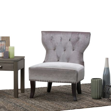 chaise d 39 appoint waterloo de wyndenhall. Black Bedroom Furniture Sets. Home Design Ideas